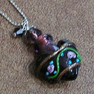 Purple Perfume Bottle Necklace